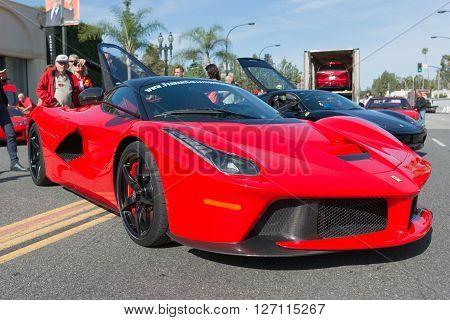 Ferrari Laferrari On Dsplay
