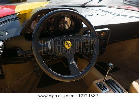 Ferrari Dashboard On Display