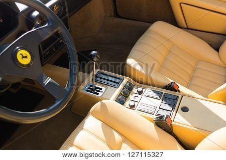 Ferrari Interior On Display