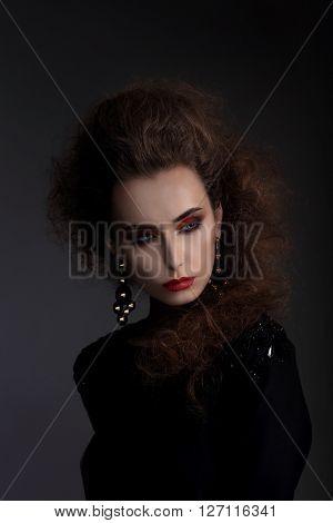 High Fashion, Portrait Of A Woman.
