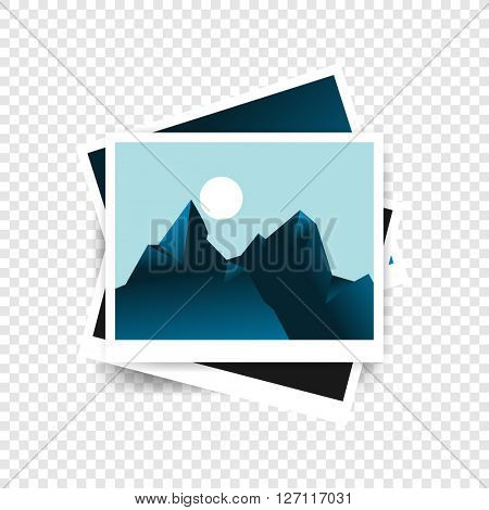 mountain range polygon concept photograph. eps10 vector