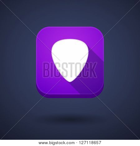 Square Long Shadow App Button With A Plectrum