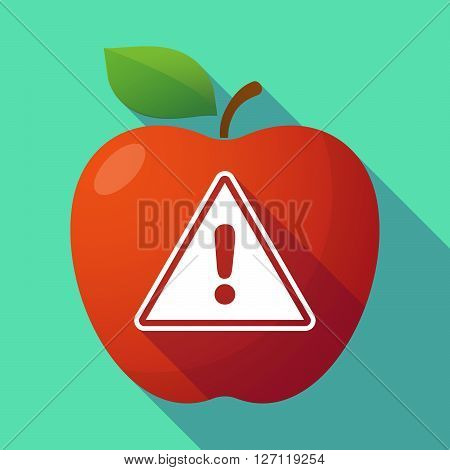 Long Shadow Red Apple With A Warning Signal