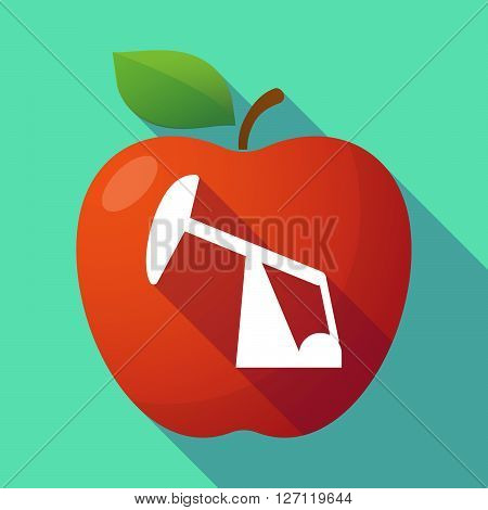 Long Shadow Red Apple With A Horsehead Pump