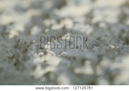 Abstract white structured background with selective focus