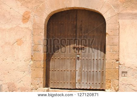 Old door in the Old city of Rabat Morocco