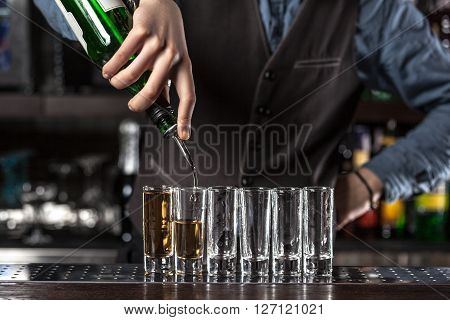 Barman At Work.