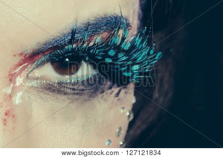 Painted Female Eye