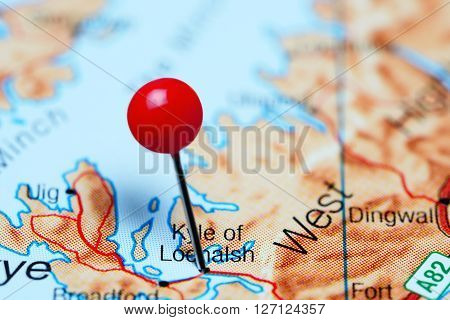 Kyle of Lochalsh pinned on a map of Scotland