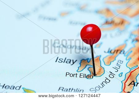 Port Ellen pinned on a map of Scotland