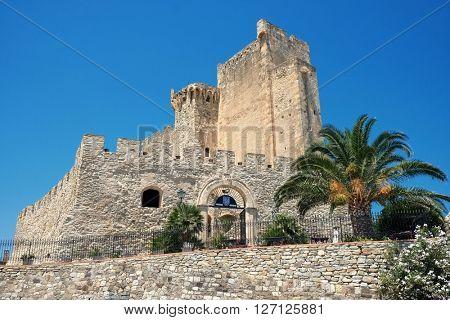 ROSETO CAPO SPULICO, ITALY - JULY 06, 2015: federician castle of Roseto Capo Spulico in Calabria, Italy