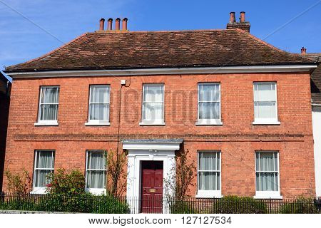 Large red brick Georgian town House in england