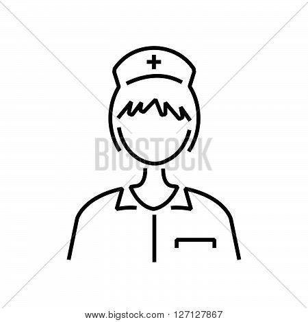 line icon nurse avatar icon support vector design EPS10.