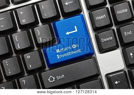 Conceptual Keyboard - Return On Investment (blue Key)