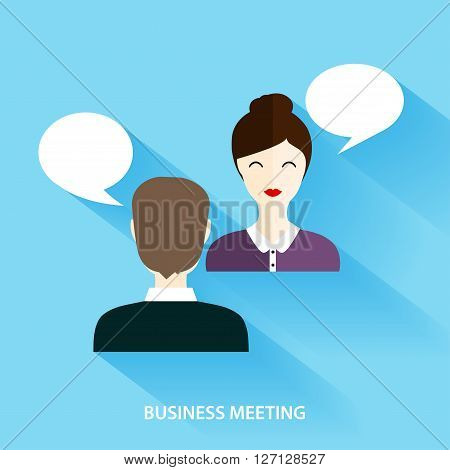 Businessmen And Businesswoman Having Informal Meeting. Social Network And Social Media Concept. Busi