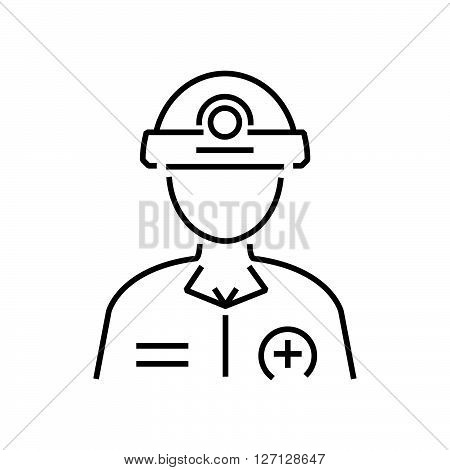 line icon Rescuers Medical avatar icon support vector design EPS10.