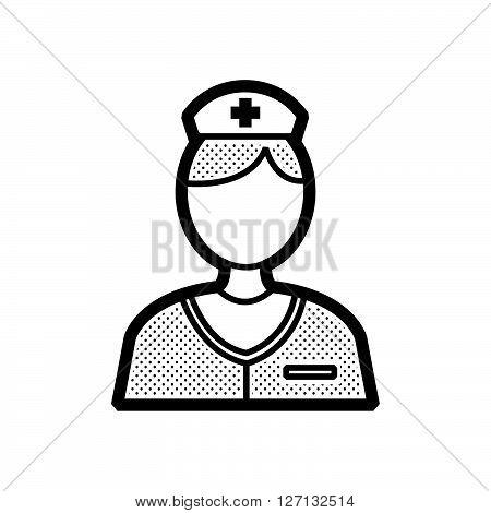 nurse icon support vector design  eps 10.