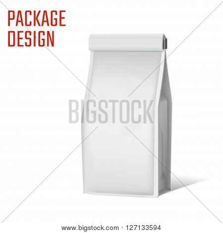 Vector Illustration of Package Plastic snack bag for Design, Website, Background, Banner. Pack food Pocket. Mock up Template. Isolated Mockup your branding or product