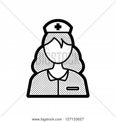 design nurse avatar icon support vector design  eps 10.