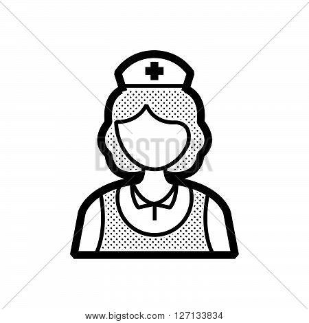 design nurse icon old clothe style support vector design  eps 10.