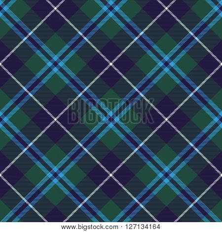 douglas tartan seamless diagonal pattern fabric texture. Vector illustration. EPS 10. No transparency. No gradients.