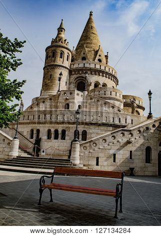 Fishermen's  Bastion in Budapest at spring time