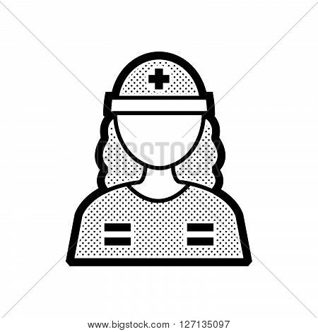 Rescuers Medical avatar woman icon support vector design  eps 10.