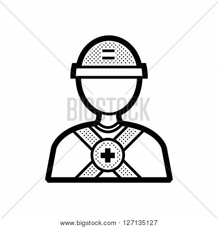 avatar design Rescuers Medical support vector design  eps 10.