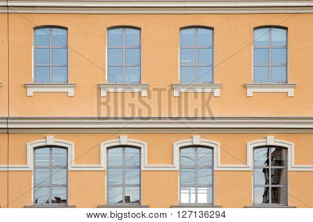 facade of office building. Windows on the facade of a modern building