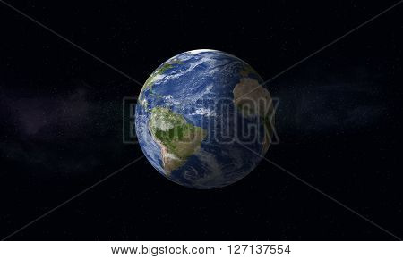 Mother Earth Space Background