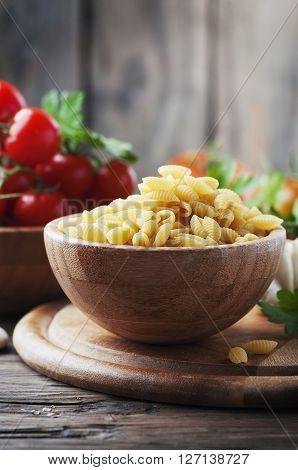 Sardinian Uncooked Pasta Malloreddus On The Wooden Table
