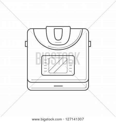 Multi cooker icon. Thin line multi cooker icon. Kitchen appliance vector icon
