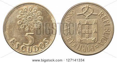 Five Portuguese Escudo Coin