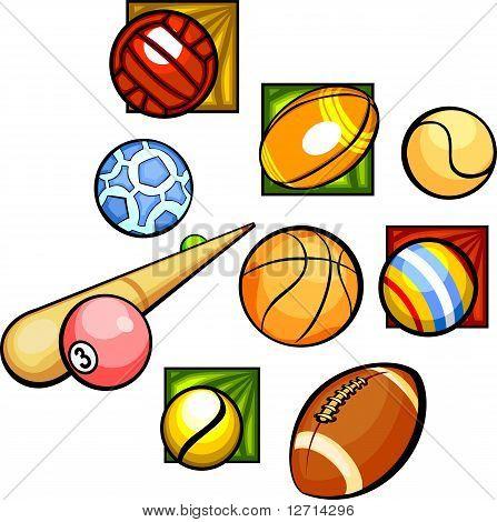 Balls - vector set.