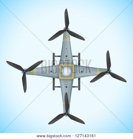 Vector Flat Quadcopter Drone Illustration.