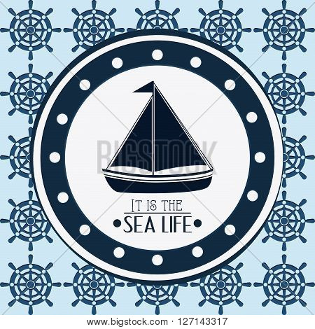 sailboat concept with icon design, vector illustration 10 eps graphic.