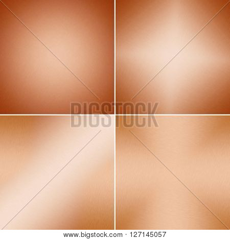 Metal backgrounds or texture of brushed copper plate