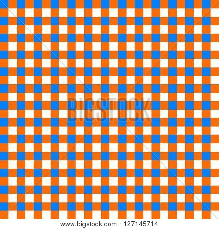 Table cloth seamless pattern orange and blue vector illustration