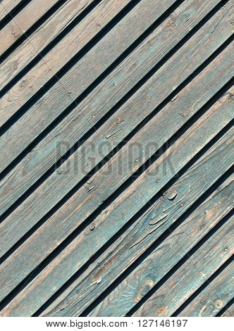 Weathered Navy Blue Wooden Texture.