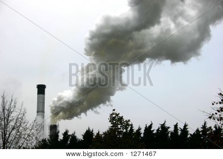 Smoke Emission From Industrial Chimney