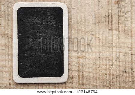 blank blackboard on vintage background.