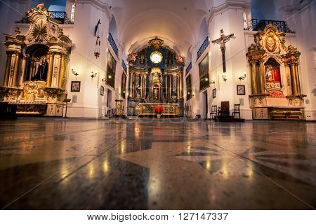The interior of a church in buenos aires