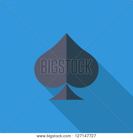 Spades icon. Flat vector related icon with long shadow for web and mobile applications. It can be used as - logo, pictogram, icon, infographic element. Vector Illustration.