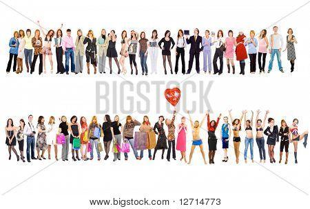 2 grandes grupos. Grupos de serie de la juventud de negocios