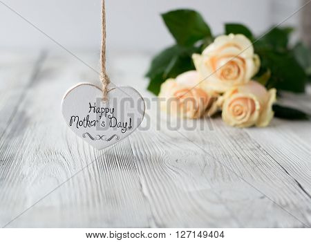 """Heart With """" Happy Mother's Day"""" Inscription"""