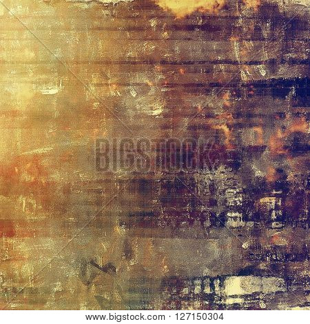 Abstract grunge background or aged texture. Old school backdrop with vintage feeling and different color patterns: yellow (beige); brown; red (orange); gray; purple (violet)