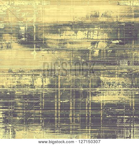 Background with grunge elements on vintage style old texture. With different color patterns: yellow (beige); brown; green; gray; black