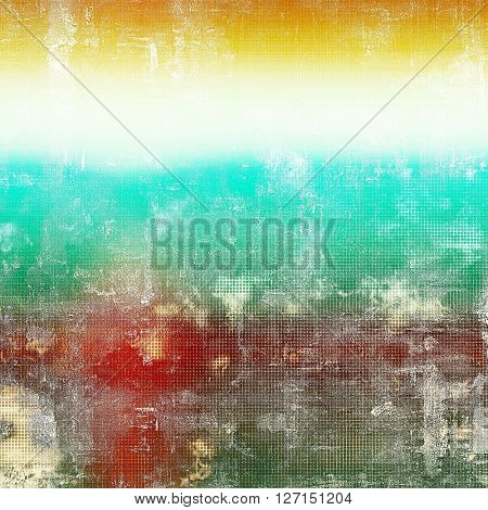 Retro design on grunge background or aged faded texture. With different color patterns: yellow (beige); green; blue; red (orange); cyan; white