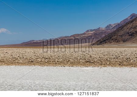 View of the Badwater Basin Death Valley National Park