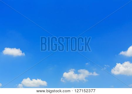 Fluffy Cloud On Clear Blue Sky